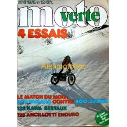 Moto verte n° 12